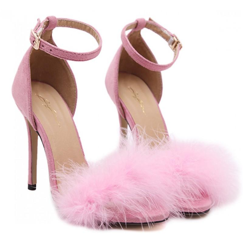 High Heel Pink Sandals