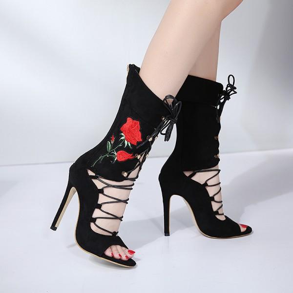 red black high heels