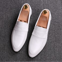 White Point Head Mens Oxfords Flats Loafers Dress Shoes