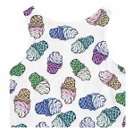 White Colorful Ice-Cream Cones Sleeveless T Shirt Cami Tank Top