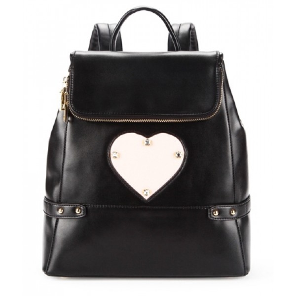Black Blue Cream Heart Studs Gothic Punk Rock Backpack