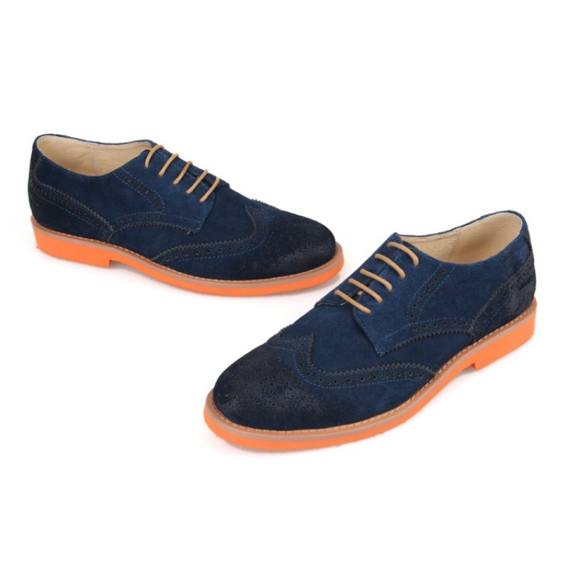 Mens Blue Suede Dress Shoes For Sale