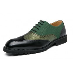 Green Wingtip Baroque Vintage Dapperman Dress Oxfords Shoes Loafers