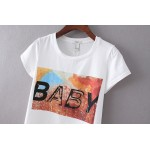 Black White BABY Short Sleeves T Shirt Top