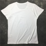 Black White Heart Spray Paint Round Neck Short Sleeves Funky Mens T-Shirt