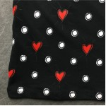Black White Dots Heart Round Neck Short Sleeves Funky Mens T-Shirt
