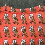 Orange Owl with Crown Round Neck Short Sleeves Funky Mens T-Shirt