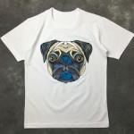 Black White Pug Dog Puppy Round Neck Short Sleeves Funky Mens T-Shirt