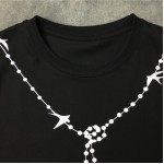 Black Chain Necklace Print Swallow Round Neck Short Sleeves Funky Mens T-Shirt