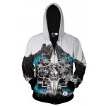 Black White Sky Mountain Snow Long Sleeves Mens Jacket Winter Hooded Hoodies