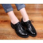 Black Vintage Old School Lace Up Oxfords Shoes