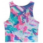 Blue Pink Galaxy Tie Dye Have Some Fun Sleeveless T Shirt Cami Tank Top