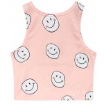 Pink Yeah Summer is Coming Happy Faces Sleeveless T Shirt Cami Tank Top