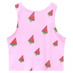 Pink Yeah Summer is Coming Watermelons Sleeveless T Shirt Cami Tank Top