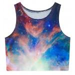 Black Galaxy Stars Universe Sleeveless T Shirt Cami Tank Top