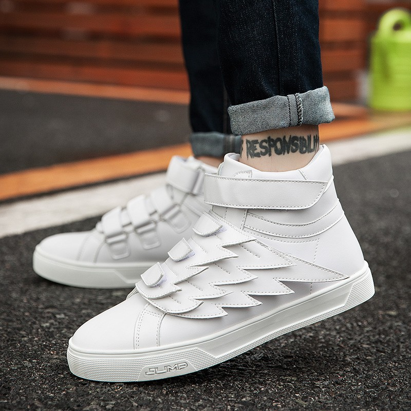 cb1191180b7c White Angel Bird Wings High Top Mens Sneakers Shoes Boots