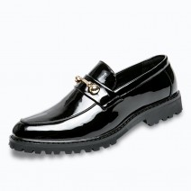 Black Blue Patent Gold Punk Rock Mens Loafers Flats Dress Shoes