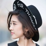 Black Food for Thought Woolen Funky Gothic Jazz Dance Dress Hat