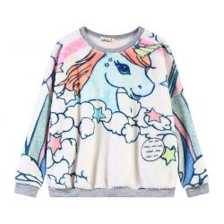 Rainbow Color Sweet Pony Unicorn Long Sleeves Sweatshirt