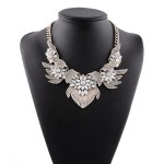 Gold Wings Silver Bohemian Gemstones Diamante Glamorous Necklace