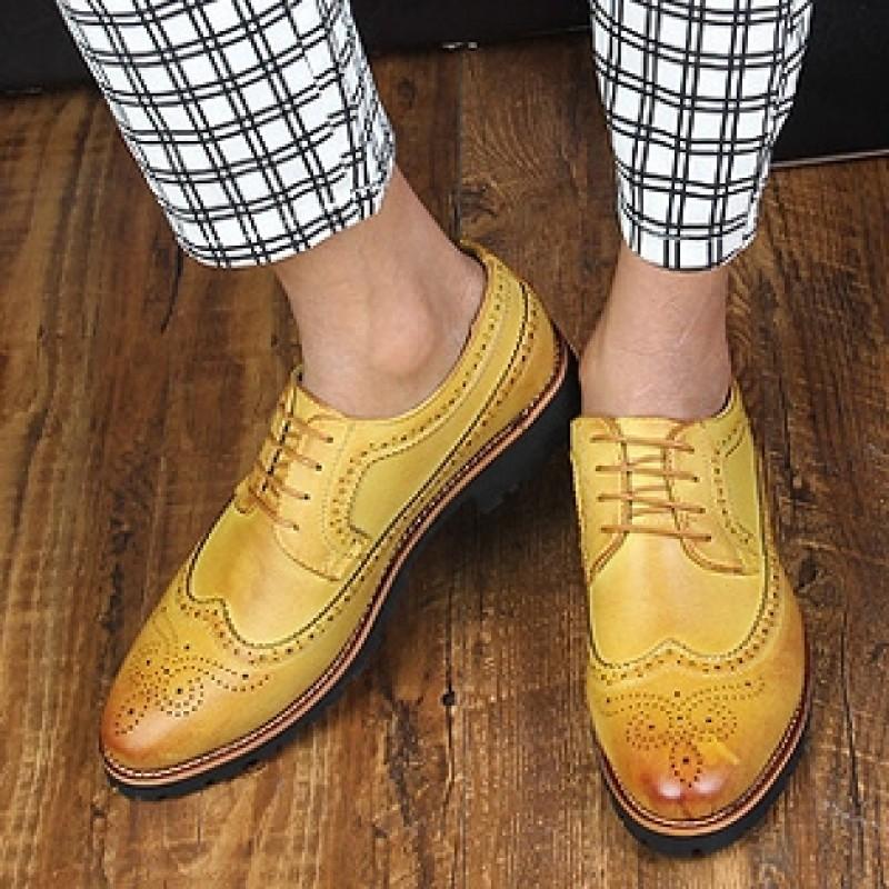Mens Velvet Tassel Lace Up Dress Shoes