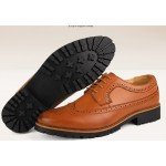 Brown Vintage Leather Lace Up Mens Classy Oxfords Dress Shoes