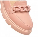 Pink Pastel Chain Ballets Ballerina Flats Loafers Shoes