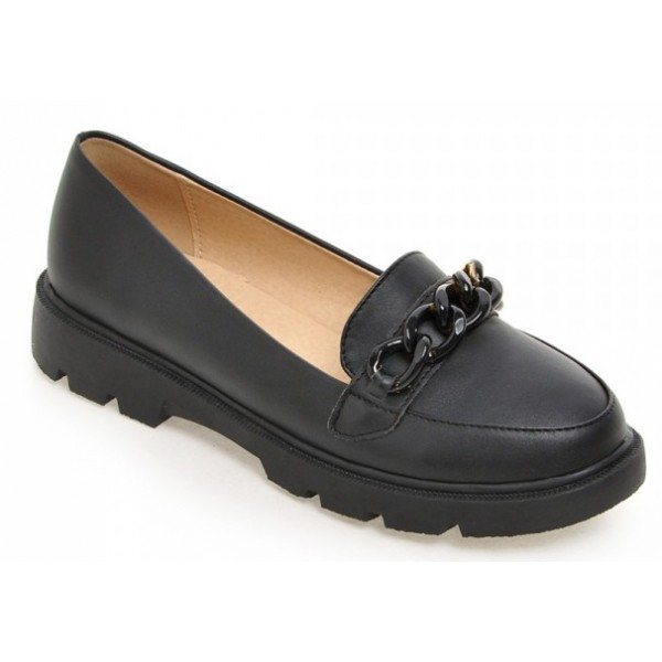 Black Chain Ballets Ballerina Flats Loafers Shoes