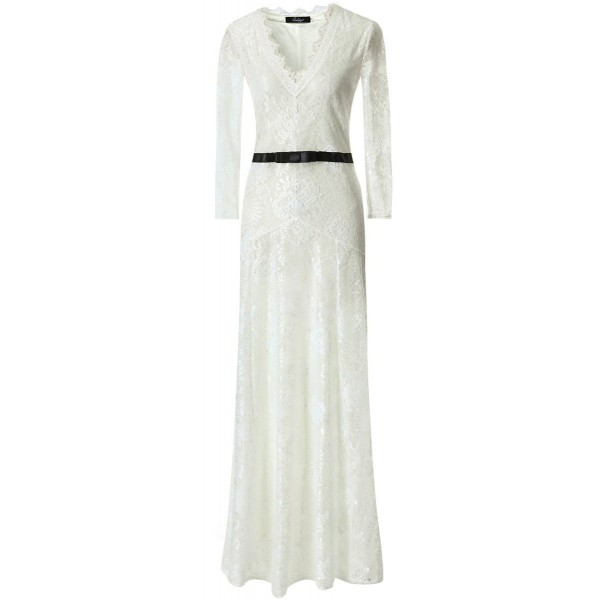 White Sexy Lace Long Sleeves Goddess Cocktail Bridal Mermaid Tail Maxi Dress Gown