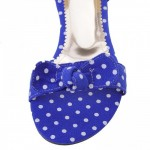 Blue Polkadots Polka Dots Bow Flats Summer Sandals Shoes