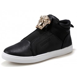 Black Gold Medusa High Top Mens Sneakers Shoes Boots