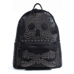 Black Oversized Skull Metal Studs Gothic Punk Rock Backpack