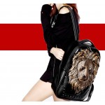 Black Bronze Silver Oversized 3D Firece Lion Madussa Head Gothic Punk Rock Backpack