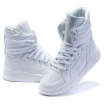 White Patent High Top Lace Up Punk Rock Sneakers Mens Shoes