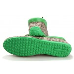 Green Sole Linen Knitted Mens Casual Flats Loafers Shoes