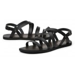 Black Leather Straps Mens Gladiator Roman Sandals Shoes