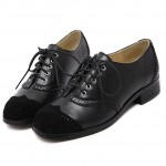 Black Suede Lace Up Loafers Flats Oxfords Dress Shoes