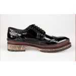 Black Green Patent Leather Lace Up Mens Classy Oxfords Dresss Shoes