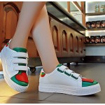 White Green Red Heart Star Velcro Flats Sneakers Tennis Shoes