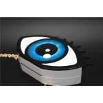 Blue Giant Eyes Harajuku Arcylic Evening Clutch Bag Purse Jewelry Box