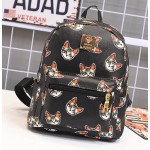 Black Cute Cartoon Cats Head Mini Backpack Bag