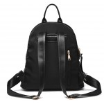 Black Side Gold Zipper Canvas Vintage School Funky Bag Backpack