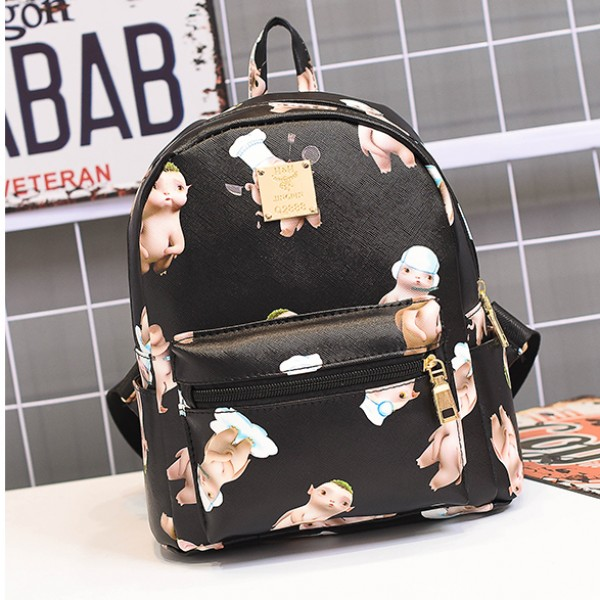 Black Cute Cartoon Baby Mini Backpack Bag