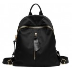 Black Giant Gold Zipper Canvas Vintage School Funky Bag Backpack