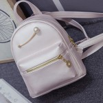 White Gold Giant Pearl Cute Mini Backpack Bag
