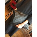 Black Knitted Punk Rock Gothic Oversized Envelope Clutch Bag Purse