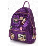 Pink Purple Black Silver Sequins Glittering  Metal Studs Gothic Punk Rock Backpack