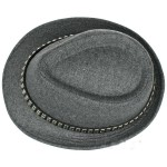 Grey Square Studs Punk Rock Woolen Funky Gothic Jazz Dance Dress Bowler Hat