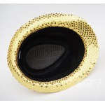 Gold Sequins Bling Bling Party Funky Gothic Jazz Dance Dress Bowler Hat