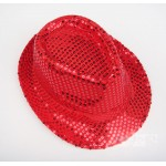 Red Sequins Bling Bling Party Funky Gothic Jazz Dance Dress Bowler Hat